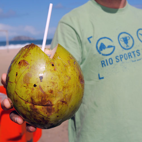 Fresh coconut water after training